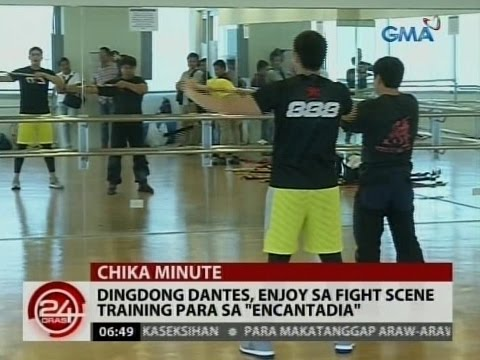 "24 Oras: Dingdong Dantes, enjoy sa fight scene training para sa ""Encantadia"" - 동영상"