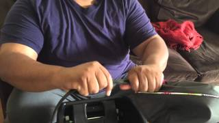 How to pull apart a Graco car seat canopy strap