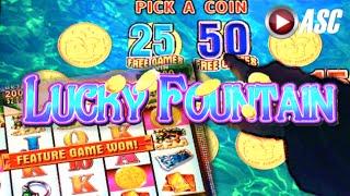 LUCKY FOUNTAIN | Konami 100+ Spins! BIG Win! Slot Machine Bonus