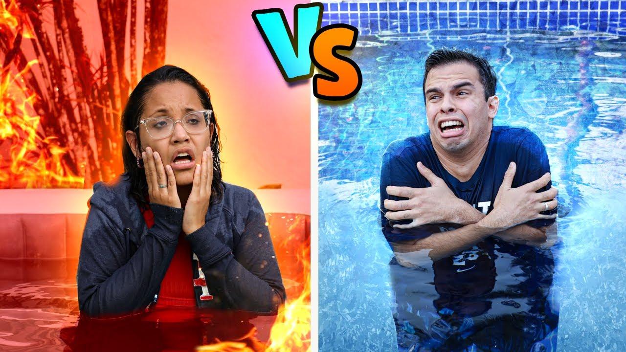 Download QUENTE VS FRIO! - ELA PASSOU MAL!
