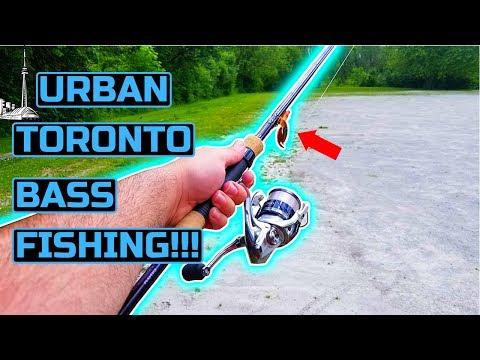URBAN TORONTO BANK FISHING For LARGEMOUTH BASS!!! - 2019-06-27