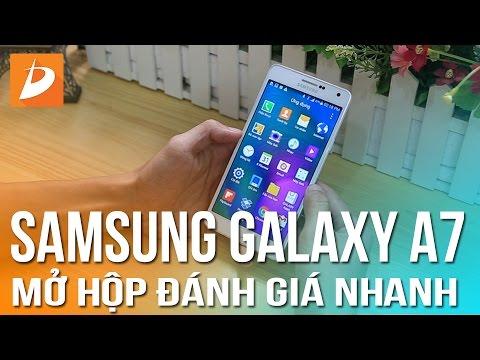 Samsung Galaxy A7 Mở hộp đánh giá nhanh