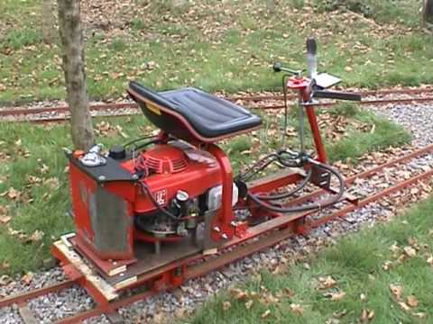 Building a 7 1/4 Gauge Tram Car from a Honda Lawn Mower - YouTube