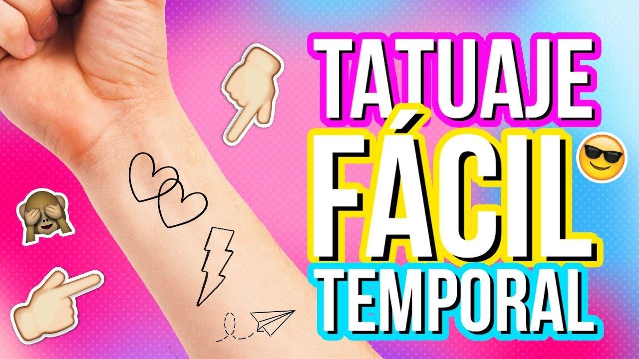 Como Hacer Tatuajes Temporales Caseros Tatuajes Falsos Tatuajes