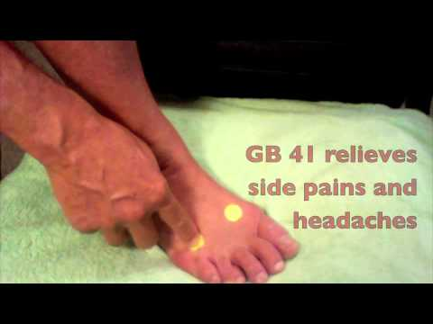 Pain Relief Acupressure Foot Points: Lv 3 & GB 41