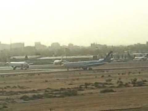 Qatar airways A330 take off Khartoum airport(KRT)