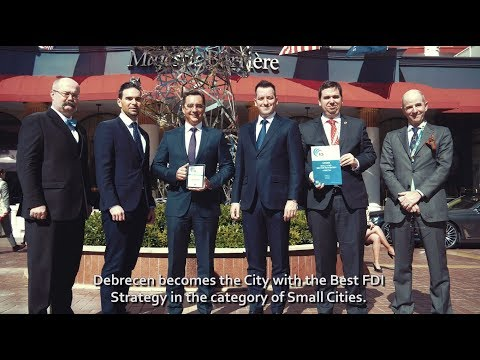 Debrecen at MIPIM 2018 - Best fDi Strategy Award in Small Cities category