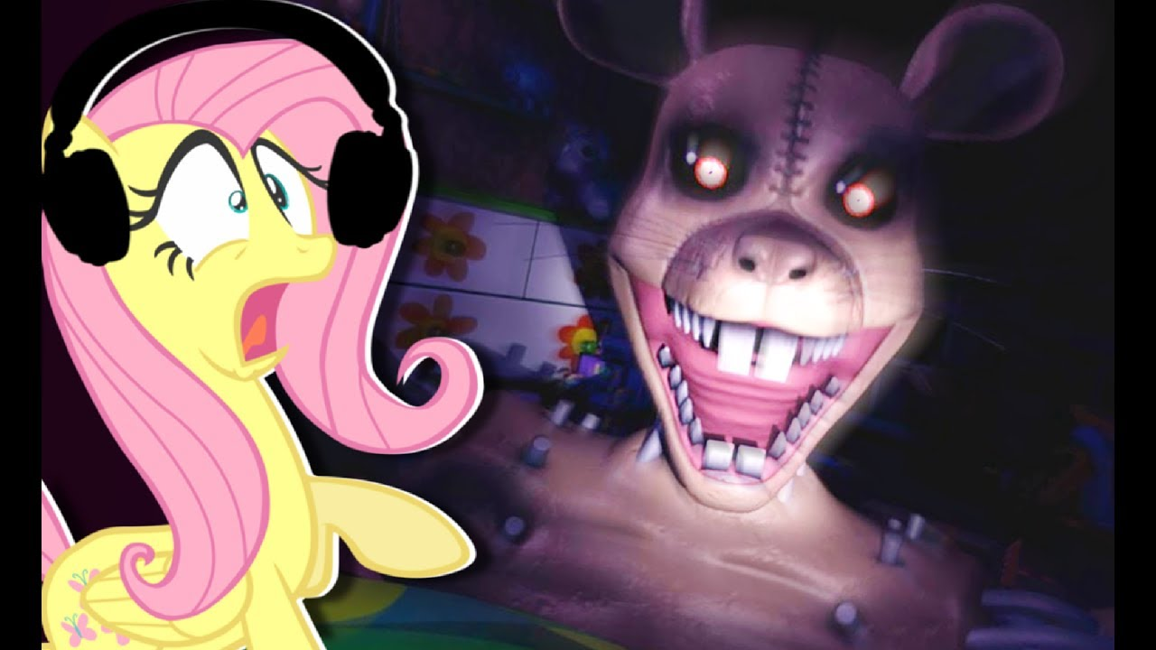 fluttershy plays five nights at candy s 3 tom and jerry youtube