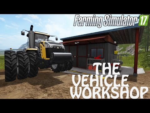 How To Use The Vehicle Workshop in Farming Simulator 2017 | PS4 | Xbox One