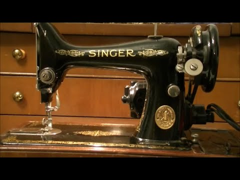 The 40 Singer Sewing Machine YouTube Simple Antique Singer Sewing Machine Manual