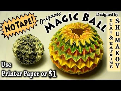 Origami Magic Ball (Dragon's Egg by Yuri Shumakov) | Doovi - photo#48