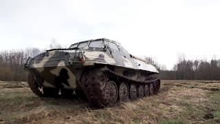 Плавающий гусеничный тягач ГТ-Т сток