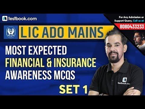Most Expected Financial & Insurance Awareness Questions for LIC ADO 2019 | LIC ADO Mains Preparation