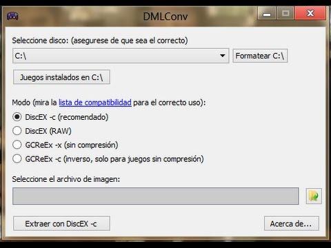 Convertir ISOS de Gamecube con DMLConv //Nintendo WII// 1/3/2017