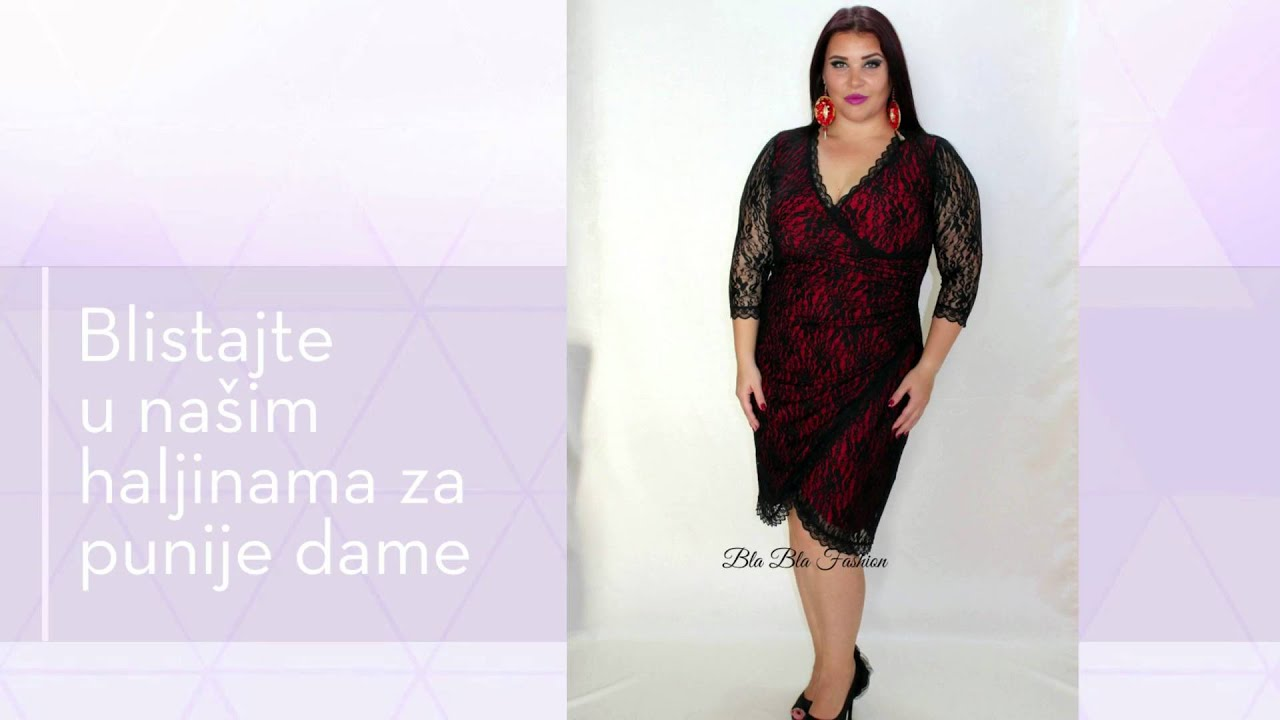 Haljine Za Punije Dame Bla Bla Fashion Youtube