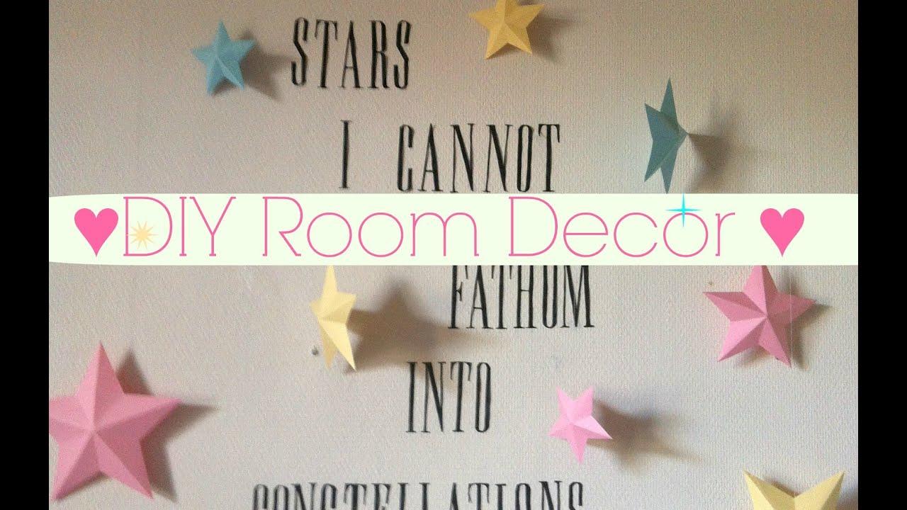 Easy Diy Room Decor Idea Wall Art Youtube