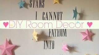 ♥ Easy Diy Room Decor Idea: Wall Art ♥