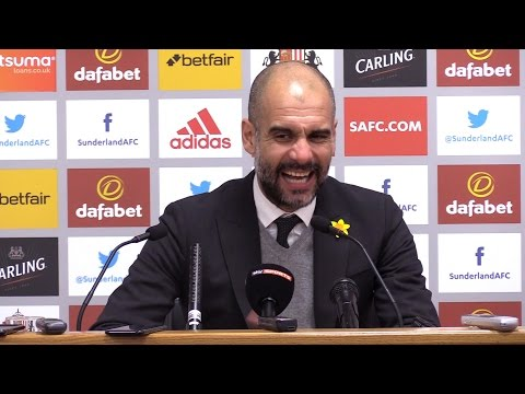 Sunderland 0-2 Manchester City - Pep Guardiola Full Post Match Press Conference