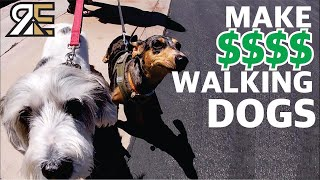 How Much a DOG WALKING BUSINESS Makes In ONE DAY!