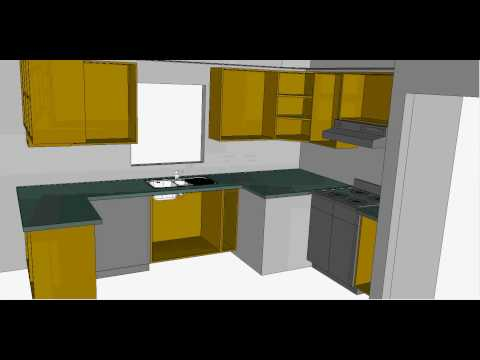 Simple kitchen design - YouTube