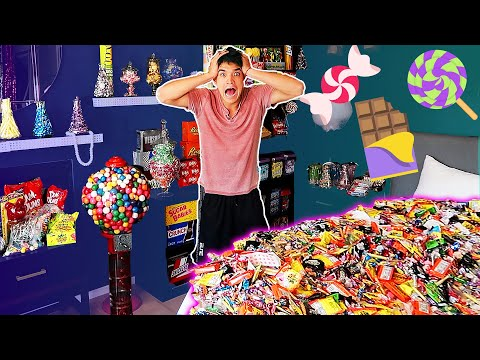 Candy Store Bedroom MakeOver SURPRISE! (ft Aaron)