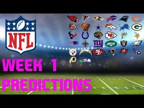 NFL WEEK 1 PREDICTIONS