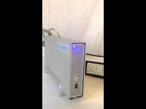swissbit 外部ハードディスク電源確認