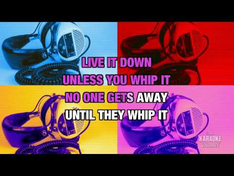 Whip It in the style of Devo | Karaoke with Lyrics