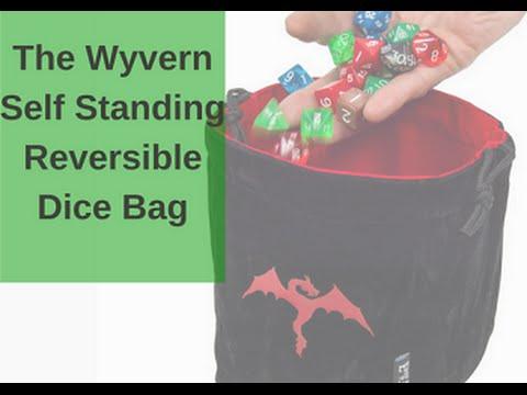 Wyvern Reversible Dice Bag - Self Standing - YouTube