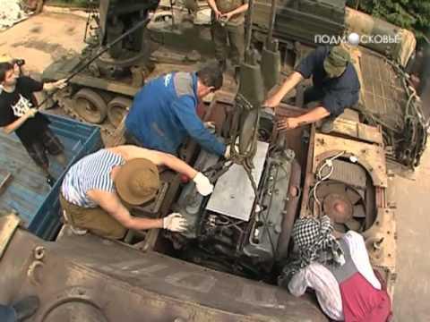 Установка двигателя в немецкий танк