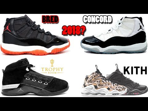 229026bae20 AIR JORDAN 11 BRED + CONCORD RUMORED FOR 2018, TROPHY ROOM JORDAN 17?, KITH  PIPPEN 1 AND MORE - YouTube