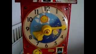 Fisher Price Teaching Clock Music Box 1968