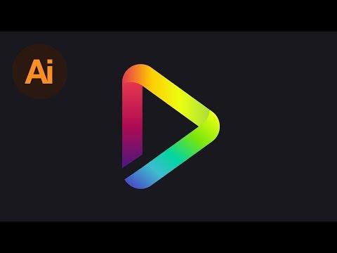 Design A Gradient Logo Illustrator Tutorial