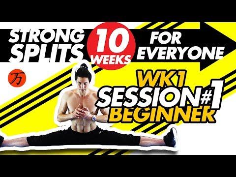 How to do the splits - Wk1 session #01, best BEGINNER flexibility exercises FULL WORKOUT SESSION