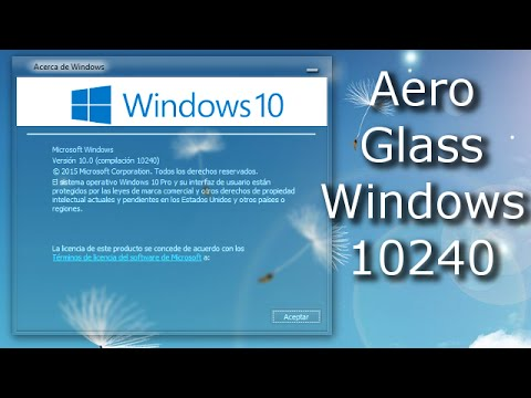 Aero Glass Windows 10 10240