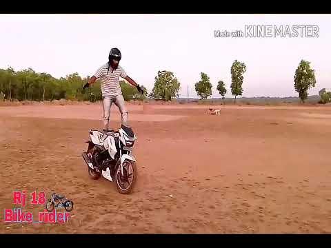Stunt On Apache Rtr 180(Mind  Blowing Stunts)! Desi Rider!