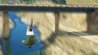 Flying Bikes Under Bridges (GTA 5 Hit A Stunt)