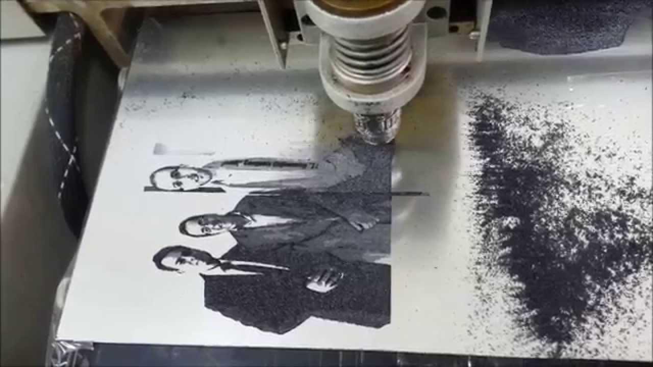 & Homemade CNC Engraving Machine on Plastic Plates - YouTube