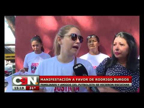 Manifestación a favor de Rodrigo Burgos