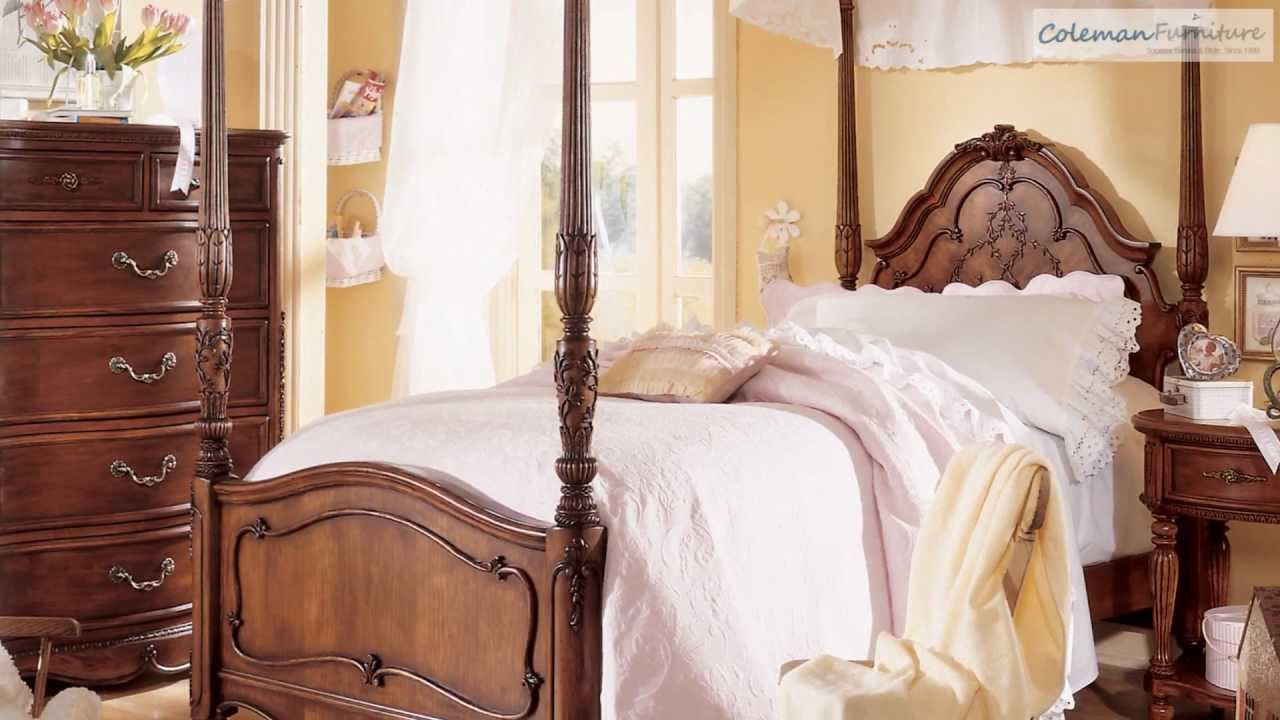 Jessica Bedroom Collection Part - 27: Jessica Mcclintock Cherry Poster Bedroom Collection From Lea Furniture -  YouTube