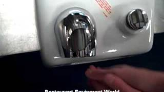 Used World Dryer Model A Hand Dryer - Demo Unit For Sale