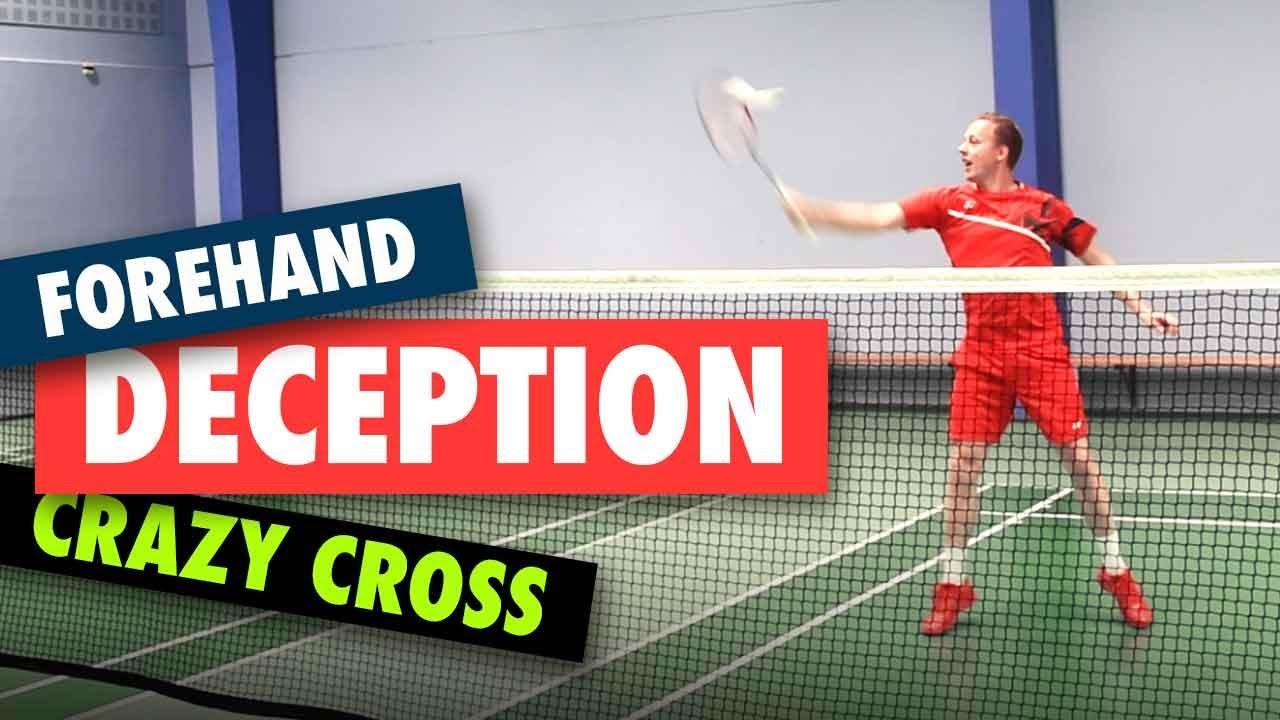 Badminton deception trick - Forehand cross