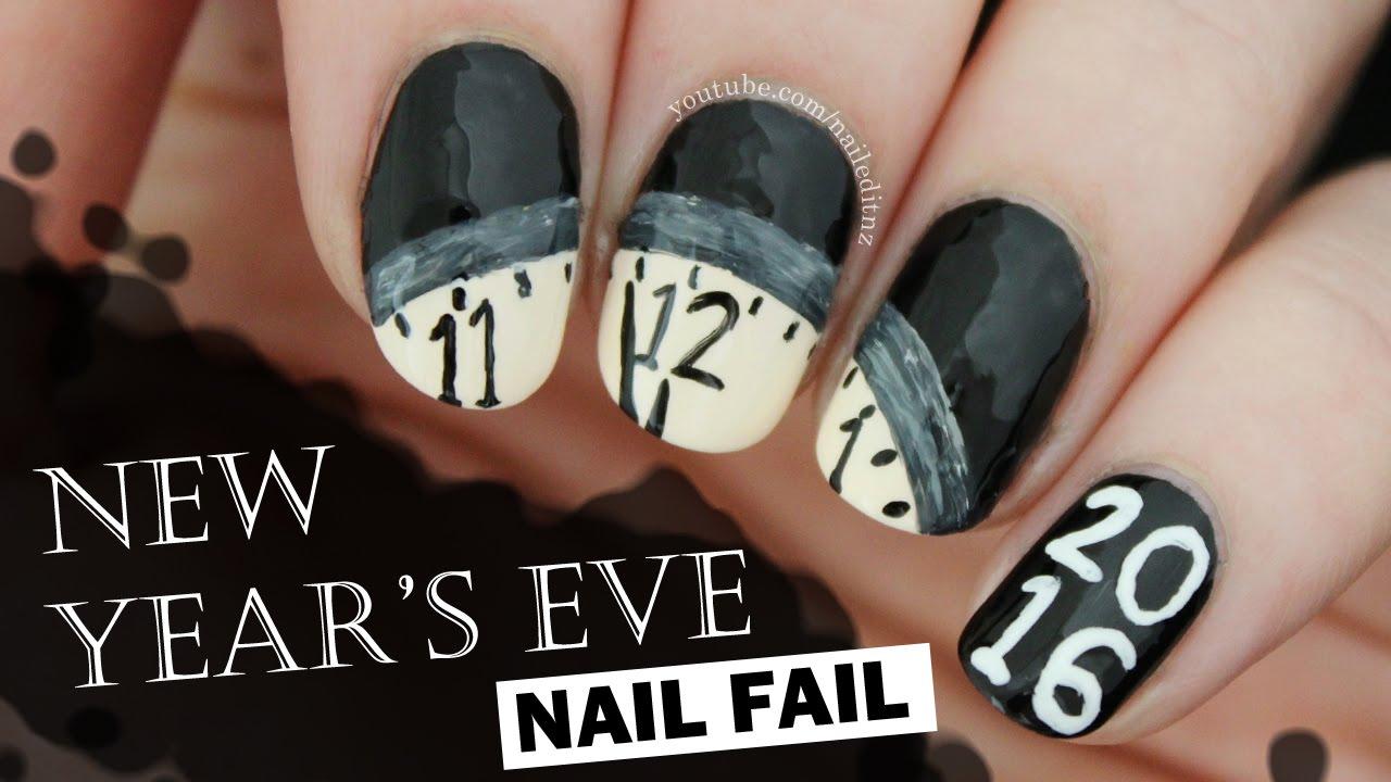 NEW YEARS EVE NAIL FAIL! - YouTube