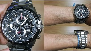 CASIO EDIFICE EF-539D-1AV STAINLESS STEEL - UNBOXING