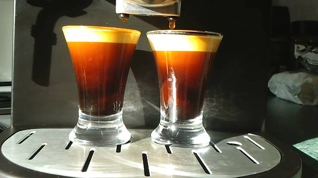 pulling an espresso shot on a silvercrest espresso machine. Black Bedroom Furniture Sets. Home Design Ideas
