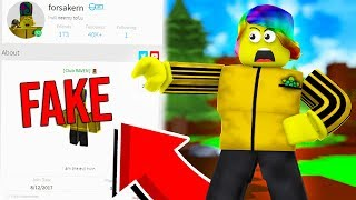 I CAUGHT Someone IMPERSONATING me so I CONFRONTED them.. (Roblox)