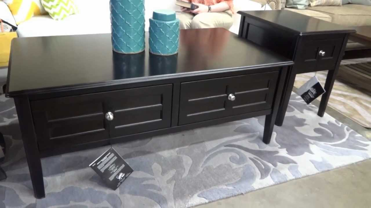 Ashley Furniture Henning Table Collection T479 Review   YouTube