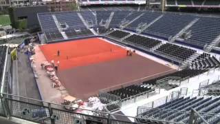 Davis Cup at Petco Park -  Time lapse - January/2014