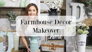 FARMHOUSE DECOR MAKEOVER | DIY FARMHOUSE DECOR