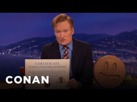 Conan Selling Nick Offermans Wooden Emojis For Charity Time
